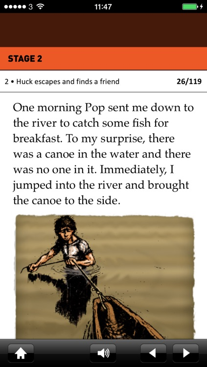 Huckleberry Finn: Oxford Bookworms Stage 2 Reader (for iPhone)