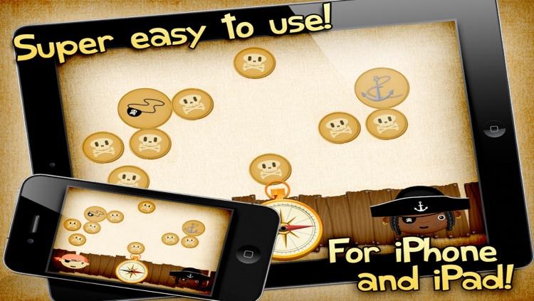 The Pirate's Treasure - a memo game for kids screenshot-4
