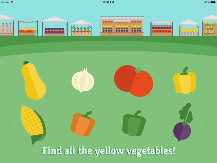 Preschool Farm Fun - Teach your child colors, counting, shapes and puzzles using yummy Vegetables! screenshot-2