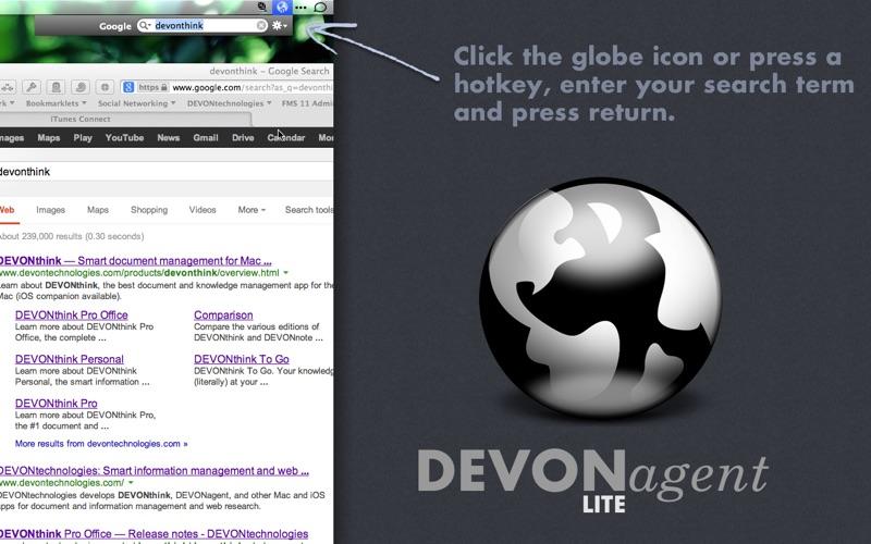 DEVONagent Lite Screenshot
