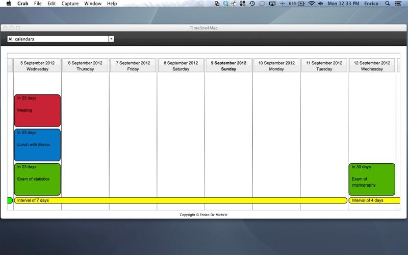 Calendar Timeline Screenshot