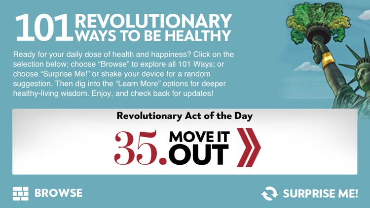 """101 Revolutionary Ways to Be Healthy"" from Experience Life magazine and RevolutionaryAct.com"