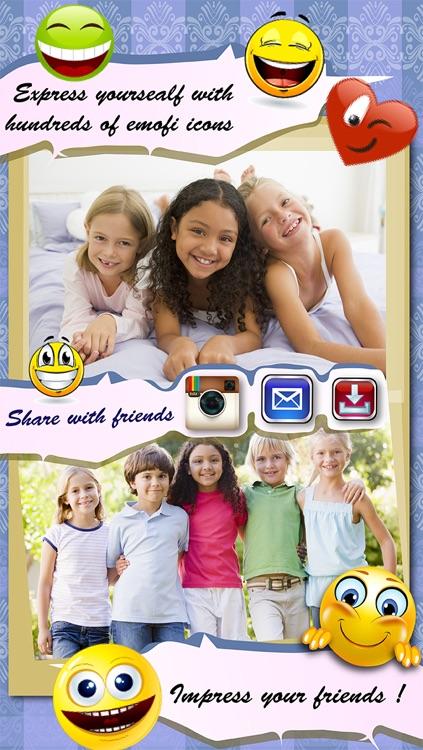 Emoji Lite Photo Collage Maker- Instagram Frames & Pic Editor Send & Share Photos