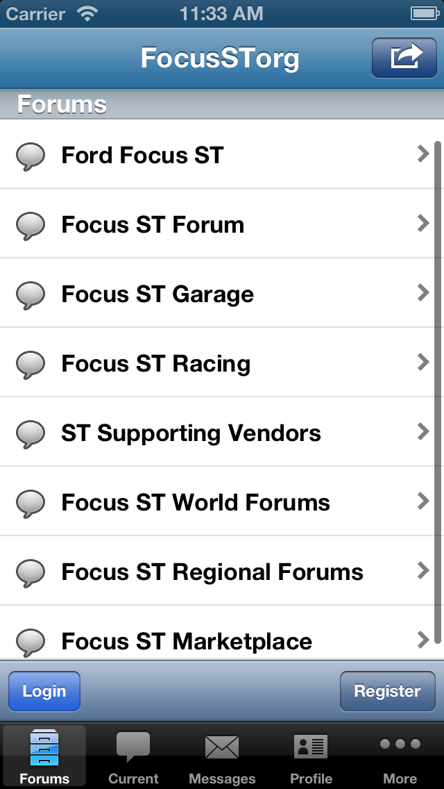 Focus ST.org Forum screenshot two