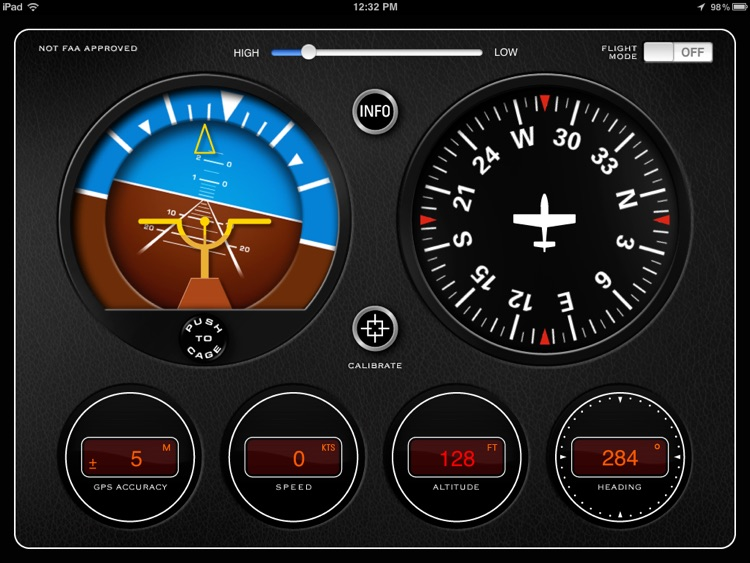 Classic Aircraft Gyroscope Instrument Panel