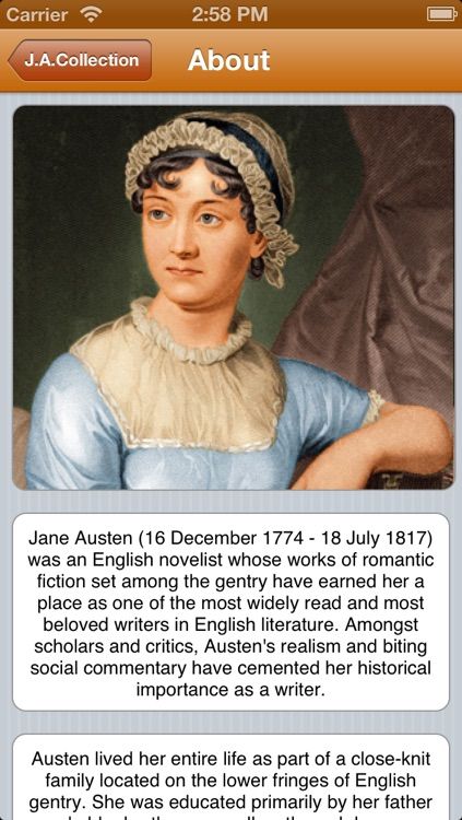 Small Jane Austen Collection (with search)