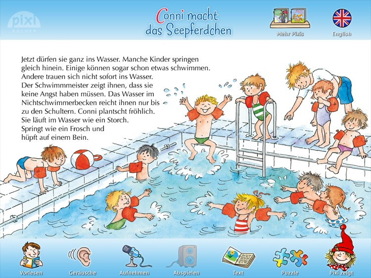"""Pixi Buch """"Conni macht das Seepferdchen"""""""