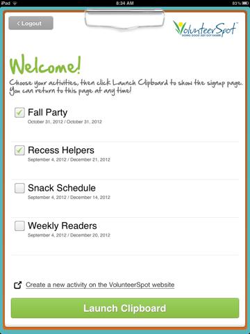 Clipboard by VolunteerSpot screenshot