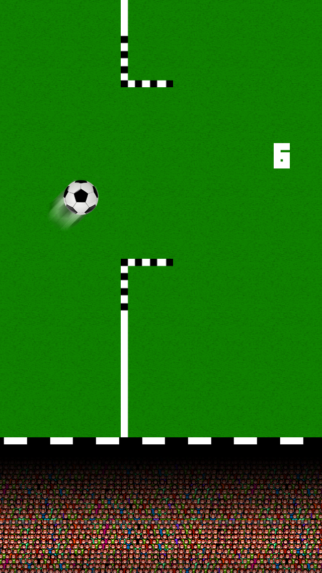 Infinity Soccer - The Tap Tap Running Ball screenshot two