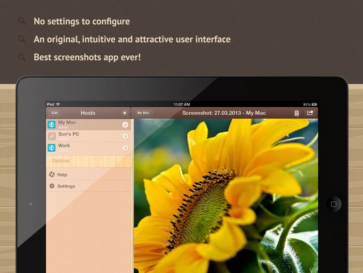 Screenshoter HD - capture screen of the remote Mac and PC screenshot-4