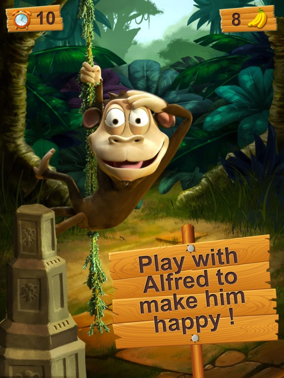 Alfred the talking monkey for iPad