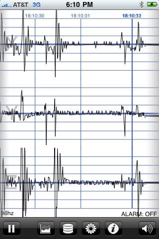 地震計 - iSeismometer ScreenShot0