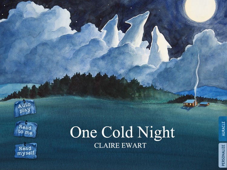 One Cold Night is a fanciful and interactive bedtime story book for kids which describes the onset of Winter, depicting the Mythical tale  of Winter  in the native American tradition, by Claire Ewart (iPad Lite Version, by Auryn Apps)