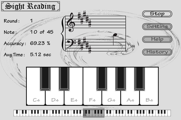 Piano Sight Reading - Free screenshot-0