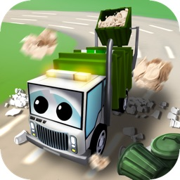 Little Garbage Car in Action - Popular 3D Casual Driving Game for Kids with Trash Collector Vehicles in a Small City with Cartoonish Graphics