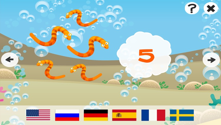 Ocean Counting Game for Children: Learn to count the numbers 1-20 in 7 languages screenshot-4
