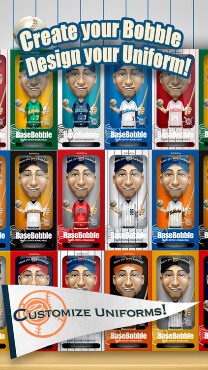 Basebobble - Bobblehead Avatar Maker App for Baseball from Bobbleshop screenshot-0