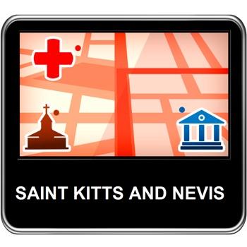 Saint Kitts and Nevis Vector Map - Travel Monster