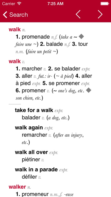 French-English Dictionary from Accio