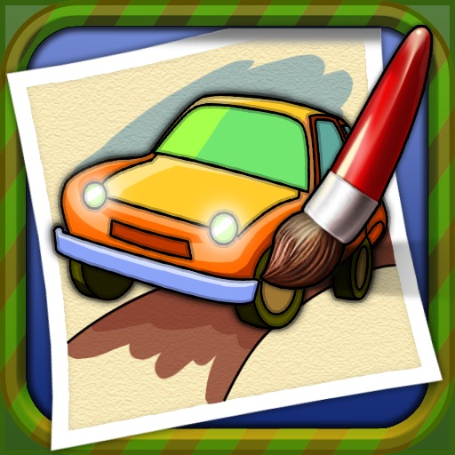 Coloring Book - Car icon