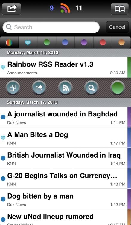 Rainbow RSS Reader screenshot-4