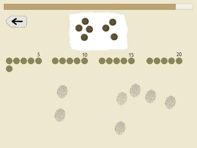 Fingerzahlen - Fingermengen Screenshot