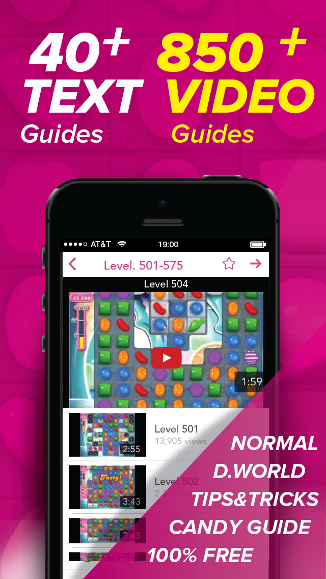 Guide for Candy Crush Saga - 850+ Video Guide, 40+ Text Guide! (Unofficial)のおすすめ画像1