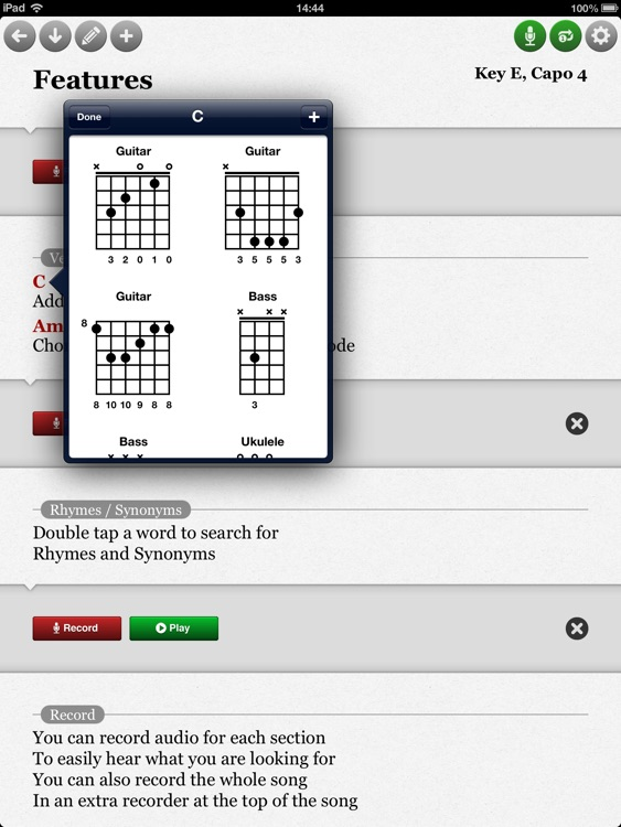 SongWriter HD - Write lyrics and record melody ideas on the go screenshot-3