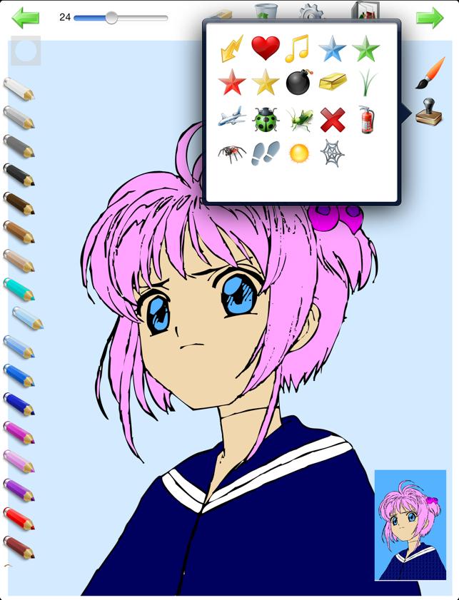 Libro da colorare per le ragazze colorazione con i