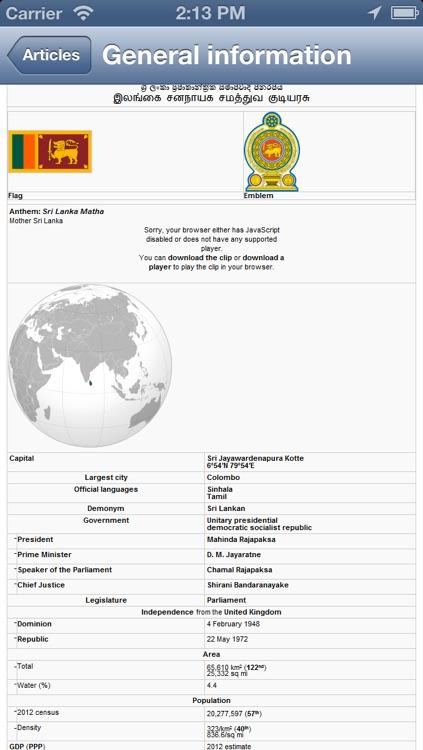 Sri Lanka Offline Map - PLACE STARS screenshot-4