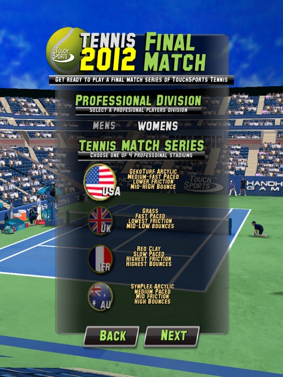 TouchSports Tennis 2012 HD screenshot-4
