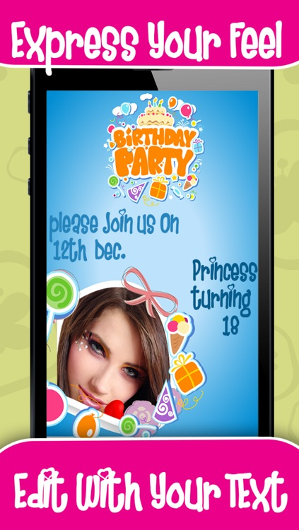 Birthday Invitation Cards screenshot-3