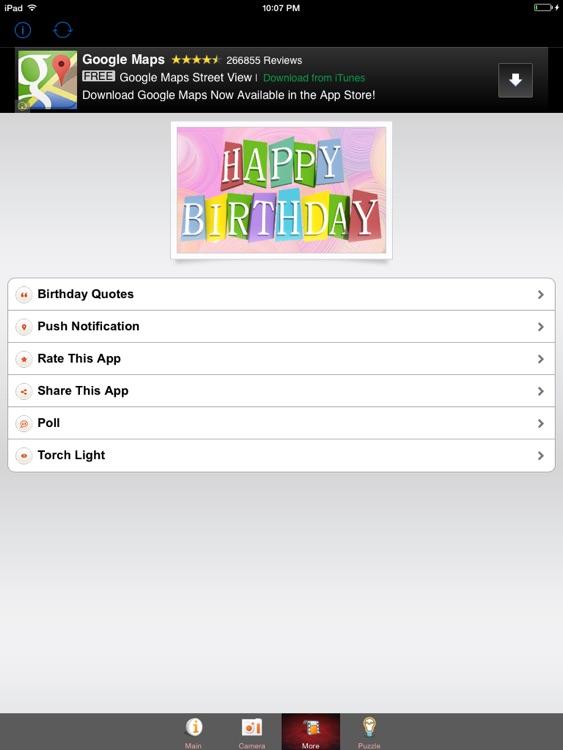 Happy Birthday Photo Frames HD screenshot-3