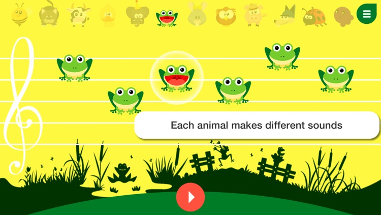 Music4Babies - Learn to read and write music with the animals