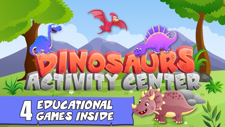 Dinosaurs Activity Center Paint & Play Free - All In One Educational Dino Learning Games for Toddlers and Kids