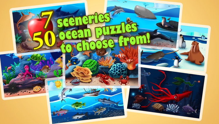 Ocean Jigsaw Puzzle 123 - Word Learning Puzzle Game for Kids screenshot-4