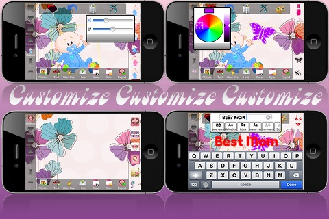 Mother's Day Card Creator - Lite screenshot-3