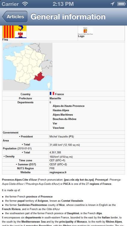 Provence Alpes Cote D Azur Map - PLACE STARS screenshot-4