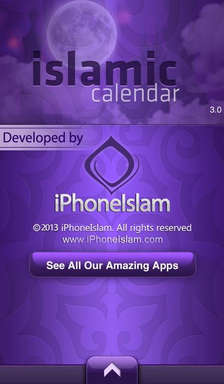 Islamic Calendar - التقويم الإسلامي screenshot-4