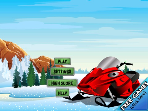 Screenshot #1 for Snowmobile Ice Rage - A Winter Fast Driving Craze