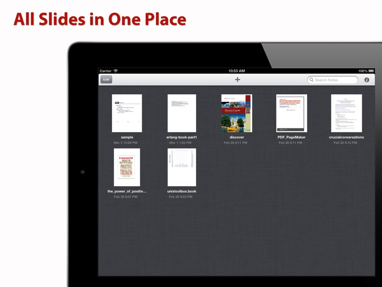 SlideNotes ~ PDF Slides Note Taking App