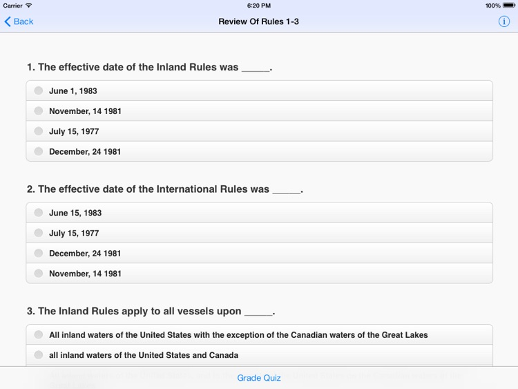 Captain Roy's Rules of the Road Study Aid screenshot-3