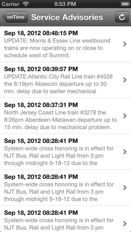 onTime : NJT FREE (NJ Transit) screenshot-1
