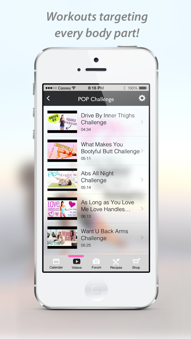 Blogilates Official App Screenshot