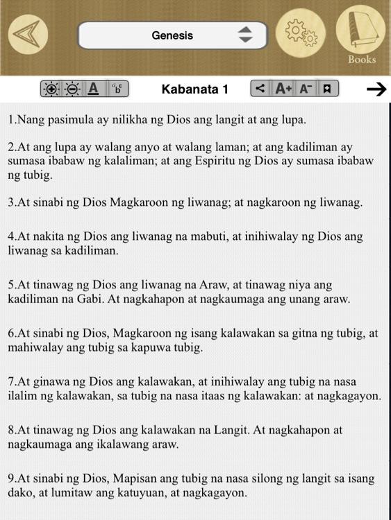 Tagalog Bible Offline