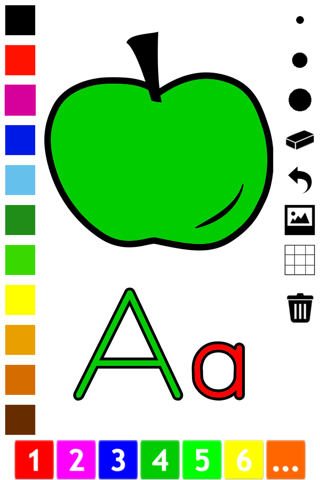 ABC Coloring Book for Toddlers: Learn to color and write the English letters of the alphabet screenshot 1