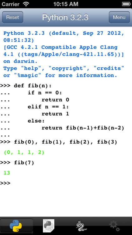 Python 3.2 for iOS screenshot-0