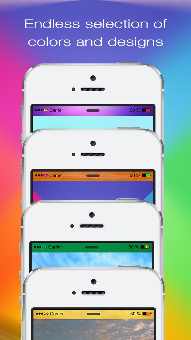 Ladda ner Pimp Your Top Bar - Color Status Bar Wallpaper ...