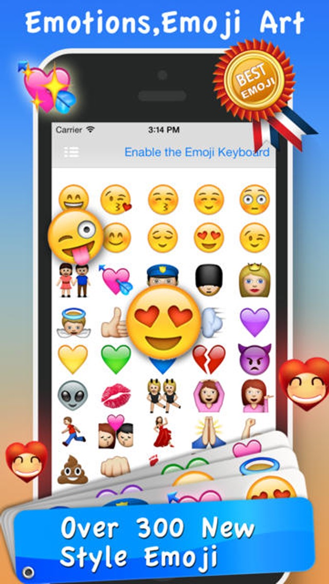 download Emoji Emoticons & Animated 3D Smileys PRO - SMS,MMS Faces Stickers for WhatsApp apps 0