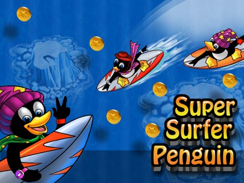 Super Surfer Penguin - Crazy Wave Surfing Dash (Free Game)-ipad-0